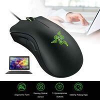 Razer DeathAdder Essential 6400DPI PC Gamer Mice Gaming Mouse Optical Ergonomic