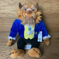 """""""Beast"""" Disney Store Collection Beauty and the Beast Plush Doll Medium 13"""" NWT"""