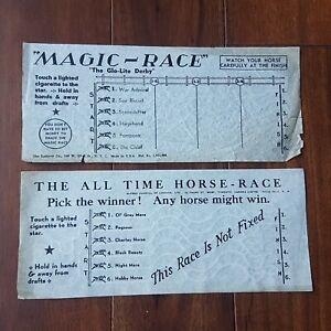 Vintage 1930s / 1940s 7 Pieces Magic Race Cigarette Horse Racing Flash Paper