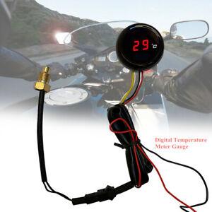 Motorcycle Digital Thermometer Meter Instrument Water Temperature Gauge Temp New