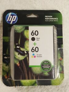 HP-60 2-Pack BLK/Tri Color Original HP Packaging New Factory Sealed EXP. 01/2018