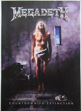 Megadeth `Countdown To Extinction` big poster