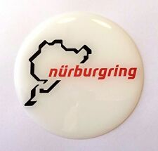 Nurburgring White/Red Sticker/Decal - 55mm HIGH GLOSS DOMED GEL FINISH