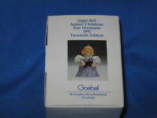 1995 Goebel Angel Bell Ornament Green with Train Locomotive