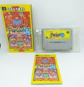 Snes Super Famicom Nintendo - Versión Japanese - Parlor! Mini 4 With Box