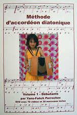Accordéon diatonique méthode + DVD volume 1 débutants - Yann-Fanch Perroches