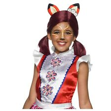 Girls Enchantimals Felicity Fox Doll Animal Pigtail Red Child Costume Wig Ears