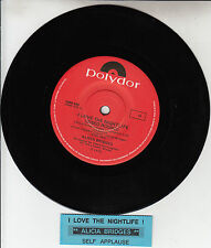 "ALICIA BRIDGES I Love The Nightlife 7"" 45 rpm record + juke box title strip"
