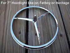 Chrome Bullet Style Headlight Trim for Harley Davidson 7 inch Headlamp