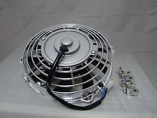 9 INCH 12V LOW PROFILE CHROME HIGH PERFORMANCE THERMO FAN 12VOLT