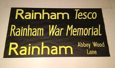 "London Bus Blind (42"") Dec01- Rainham Tesco / War Memorial / Abbey Wood Lane"