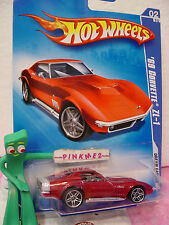 2009 Hot Wheels '69 CORVETTE ZL-1 1969 #148/190~met RED Vette~Dream Garage ~🚙