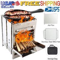 Portable Grill Charcoal BBQ Folding Barbecue Shish Kabob Stove Camping Outdoor