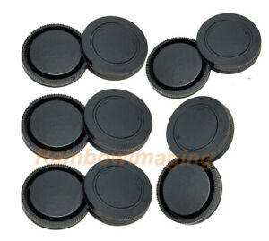 (5 packs) Lens Rear Caps & Body Protective Censor Cover for Sony E-Mount Lense