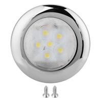 For Marine Boat Yacht 6 LED Light Dome light Lamp 12V DC Stainless Steel White