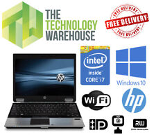 "HP Elitebook 2540p Laptop - 12"" HD Screen + Intel i7 CPU + SSD & Windows 10 Pro"
