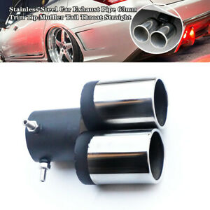 63mm Stainless Steel Car Auto Exhaust Pipe Tip Muffler Tail Throat Straight Trim