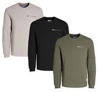 JACK & JONES New Men's Crew Neck Plain Sweatshirt Pete Casual Sweat Top Jumper