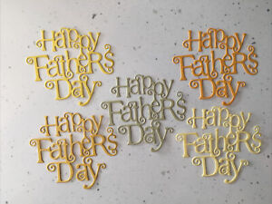 Happy Father's Day Die Cuts (Pack Of 5) Shades Of Yellow/Orange/ Green
