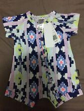BNWT Bonds Zip Short Sleeve Romper Wondersuit Painted Navajo size 000