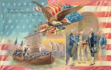 WASHINGTON OATH OF OFFICE NEW YORK TUCK PATRIOTIC POSTCARD (c 1909)