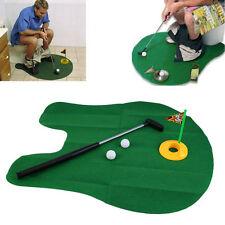 FUNNY vasino per wc tempo Giocatore di Golf Minigolf Tappetino & PUTTER Game Set