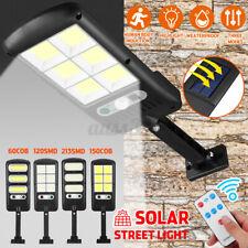 120W-450W Waterproof LED Solar Street Light PIR Motion Sensor Wall Lamp Outdoor