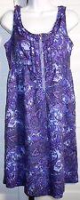 Stetson Purple/Multi Paisley Empire Waist Beach Dress Sz S NWT