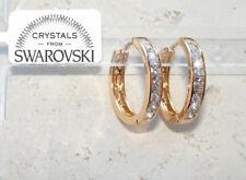 Orecchini da donna pl. oro 18K zirconi cristalli swarovski veri SW8/5 bianchi