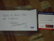 Gene Hickerson 1964 Cleveland Browns Signed Cut Letter  PSA DNA