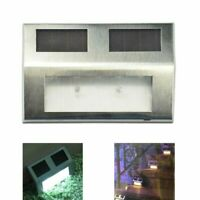 Super bright solar powered door wall lights led fence outdoor garden lighting