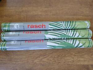 3 Rolls Rasch Portfolio Jungle Palm Leaves Green Wallpaper