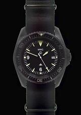 Patrón de MWC Europea pesado deber militar Divers Watch con PVD caso (cuarzo)