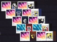 Australia 2012 AFL Football, Set of 15 Footy Stamps + Tabs MNH