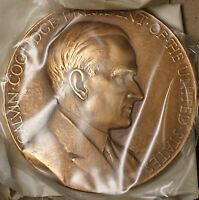 US Mint Calvin Coolidge Presidential High Relief Bronze Inaugural Medal (B)