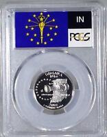 2002 - S Clad Washington Quarter - Indiana - PCGS  PR69DCAM - Flag Series