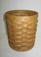 Longaberger 2004 Warm Brown Round Basket