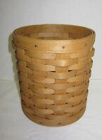 Longaberger 2004 Warm Brown Round Basket