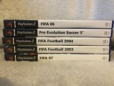 Lot Of 5 Soccer Ps2 Games - FIFA 03/04/06/07 Pro Evolution Soccer 5 Untested