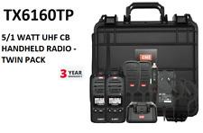 GME TX6160TP 5W 80-Channel IP67 UHF CB Handheld Radio - Pair