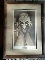 """1905 ORIGINAL LITHO. Geo. A. Wotherspoon """"GOSSIP"""" AND SATAN CAME ALSO  Framed"""