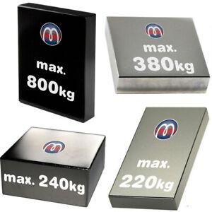 Extra starke Quadermagnete Blockmagnete aus Neodym (NdFeB) - bis 800kg Haftkraft