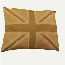 Catherine Lansfield Green Cushion. Union Jack. Used.