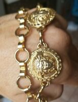 Versace Vintage chain belt with matching earrings