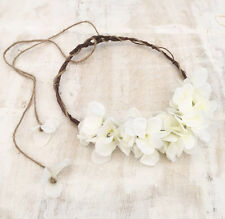 Beautiful woodland fairy Ivory SIENA floral crown with rustic rope detail