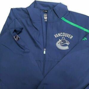 FANATICS AUTHENTIC PRO NHL FULL ZIP RINKSIDE JACKET VANCOUVER CANUCKS BLUE XL