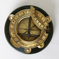 Brass Vintage Sundial Compass Maritime Collectible