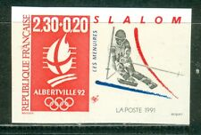 France Olympische Spiele Olympic Games 1992 Imperforated Slalom MNH