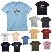 Alpha Industries Herren T-Shirt Basic Men Shirt MA1 S M L XL XXL 3XL NEU !!!