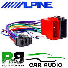 ALPINE CDA-7850R Car Radio Stereo 16 Pin Wiring Harness Loom ISO Lead Adaptor